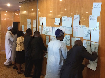 Citizens in Nigeria participate in a readiness assessment exercise to identify high priority datasets